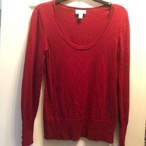 Holiday red LOFT sweater size M